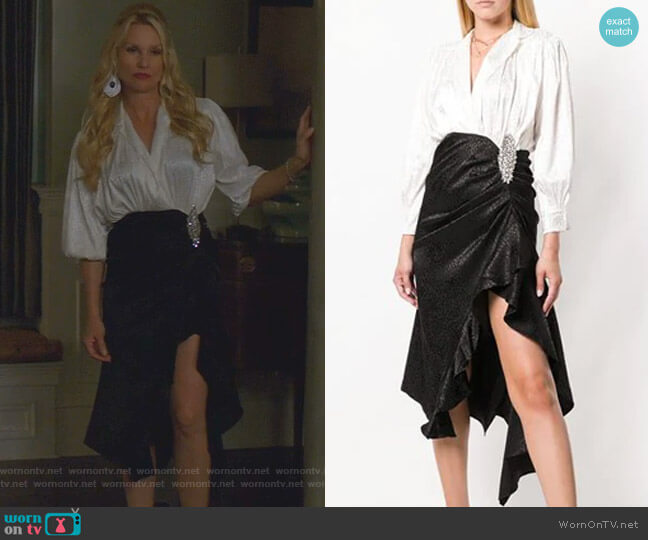 Betta Dress by Dodo Bar Or worn by Alexis Carrington (Nicollette Sheridan) on Dynasty