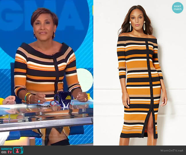 Daveena Dress - Eva Mendes Collection by New York & Company worn by Robin Roberts  on Good Morning America