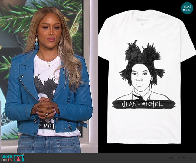 Jean Michel T-Shirt by Deer Dana worn by Eve  on The Talk