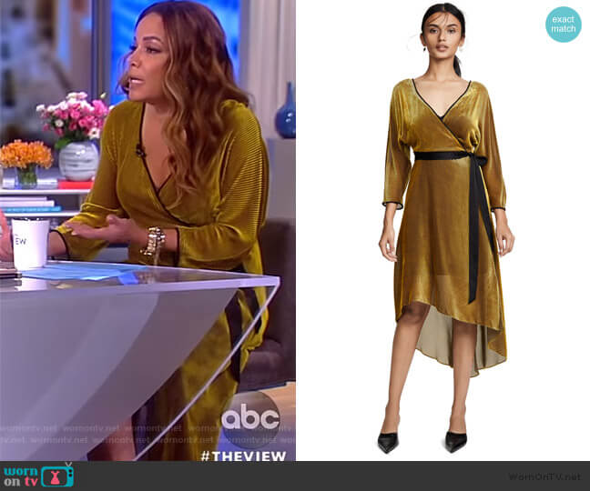 Sunny's gold wrap dress on The View