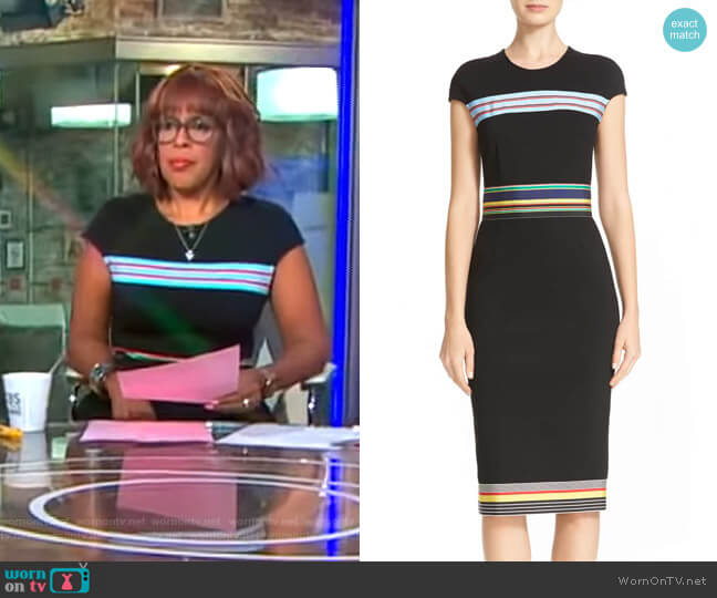 Hadlie Dress by Diane von Furstenberg worn by Gayle King on CBS This Morning