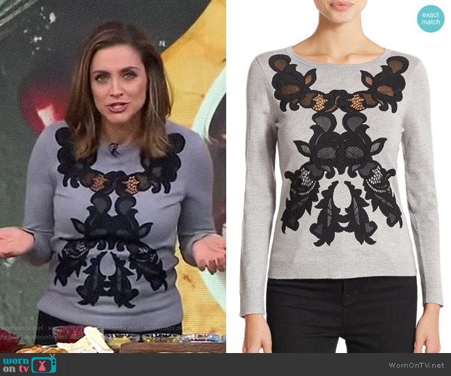 Shana Sweater by Diane von Furstenberg worn by Paula Faris  on Good Morning America