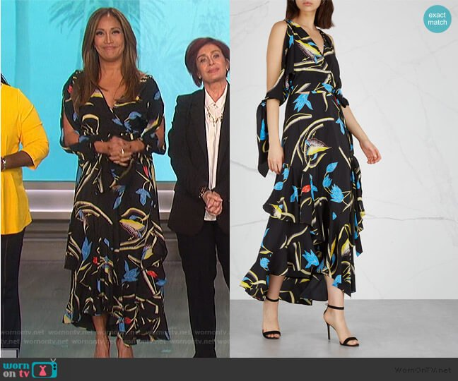 Eloise Floral Midi Dress by Diane von Furstenberg worn by Carrie Inaba (Carrie Inaba) on The Talk