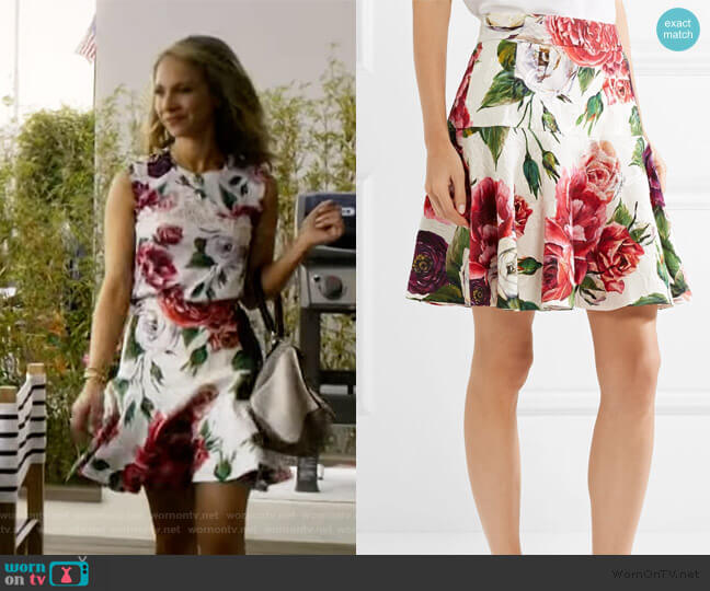 Rose & Peony Brocade Skirt by Dolce & Gabbana worn by Juno Temple on Dirty John