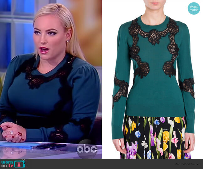 Lace Inset Knit by Dolce & Gabbana worn by Meghan McCain  on The View