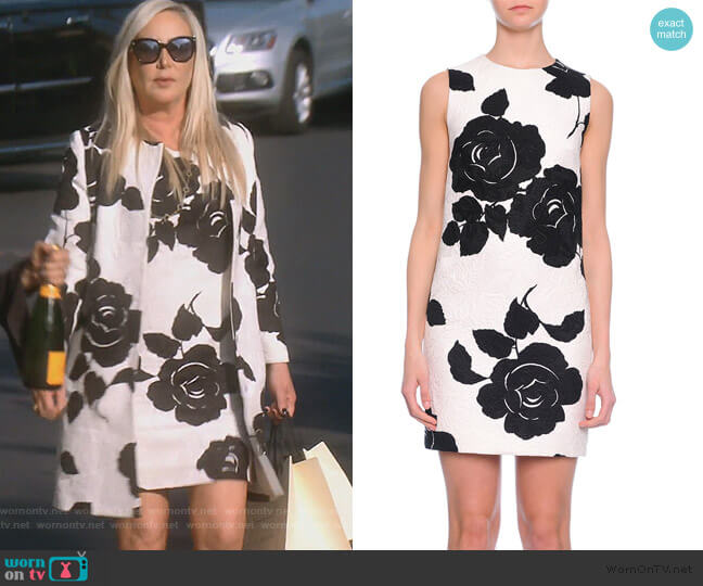 Floral-Print Shift Dress by Dolce & Gabbana worn by Shannon Beador (Shannon Beador) on The Real Housewives of Orange County