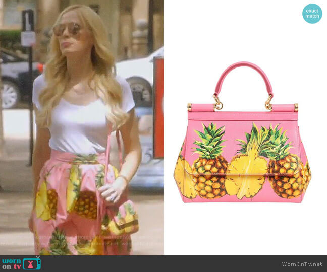Sicily Shoulder Bag by Dolce & Gabbana worn by Kameron Westcott  on The Real Housewives of Dallas