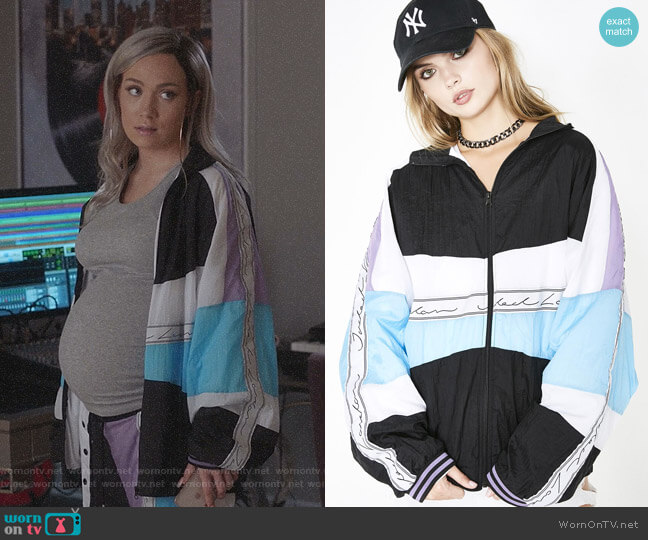 Sky Paneled Crinkle Poly Jacket by Jaded London  worn by Star Davis (Jude Demorest) on Star