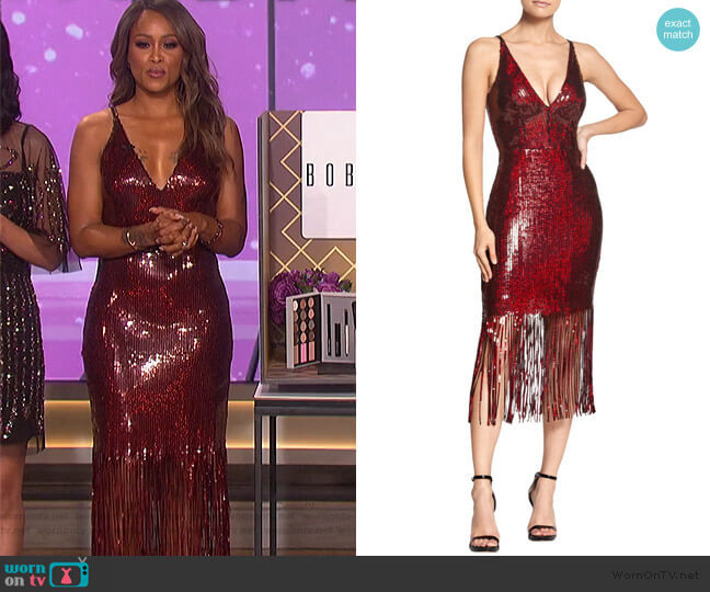 Frankie Dress by Dress the Population worn by Eve  on The Talk