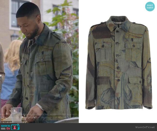 Printed Jacket by Dries Van Noten worn by Jamal Lyon (Jussie Smollett) on Empire
