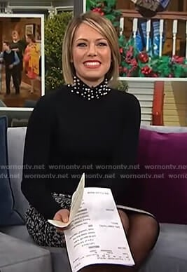 Dylan's black pearl embellished sweater on Today