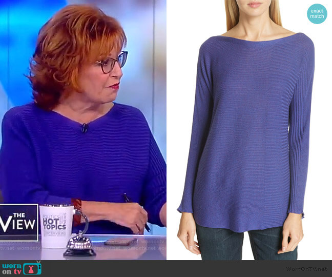 Mix Rib Cotton & Silk Blend Sweater by Eileen Fisher worn by Joy Behar  on The View