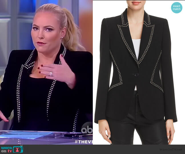 Allegra Studded Blazer by Elie Tahari worn by Meghan McCain  on The View