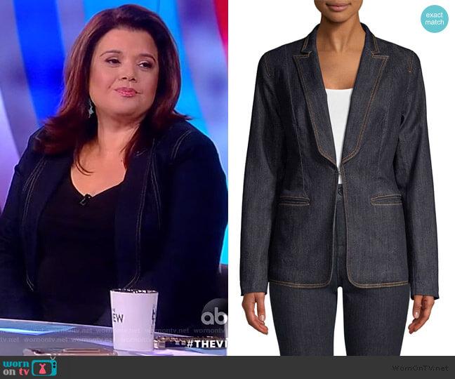Lorelie Denim Blazer by Elie Tahari worn by Ana Navarro  on The View