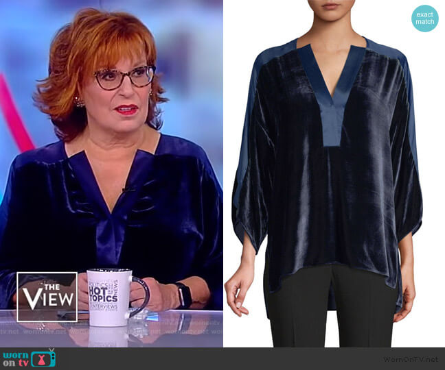 Nolia Velvet Blouse by Elie Tahari worn by Joy Behar  on The View