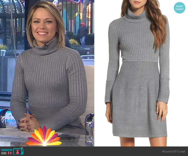 Turtleneck Sweater Dress by Eliza J worn by Dylan Dreyer  on Today