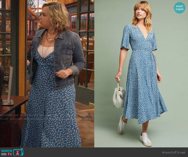 Faithfull Daytime Floral Dress worn by Kristin Baxter (Amanda Fuller) on Last Man Standing