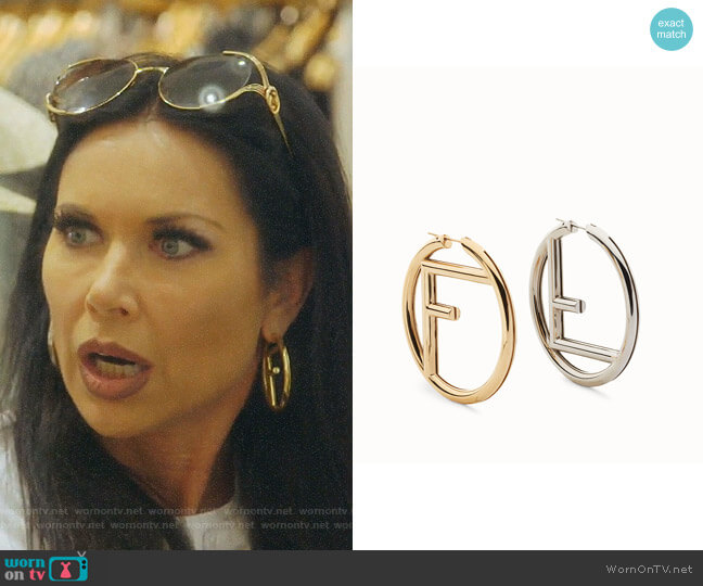 F is Fendi Earrings by Fendi worn by LeeAnne Locken  on The Real Housewives of Dallas