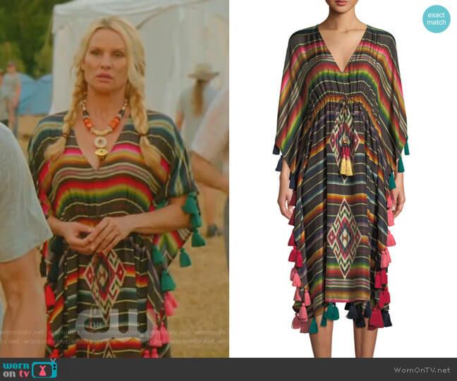 Amirta Kaftan by Figue worn by Nicollette Sheridan on Dynasty