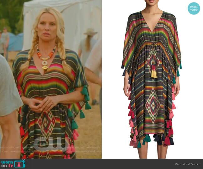 Amirta Kaftan by Figue worn by Alexis Carrington (Elaine Hendrix) on Dynasty