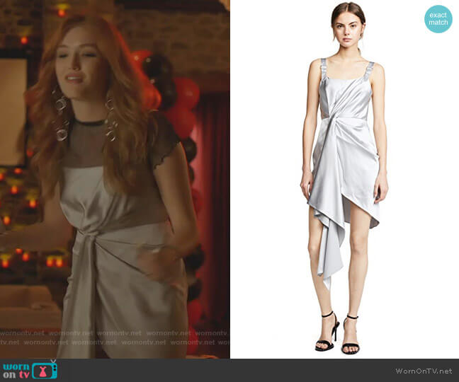 Kirby's silver dress on Dynasty