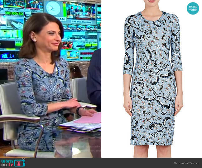 Floral-Print Jersey Dress by Erdem worn by Bianna Golodryga  on CBS This Morning