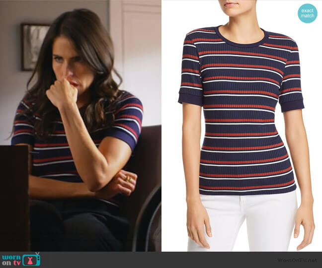 Laurel's striped top on How to Get Away with Murder