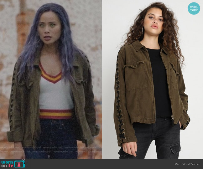 Faye Military Jacket by Free People worn by Clarice Fong (Jamie Chung) on The Gifted