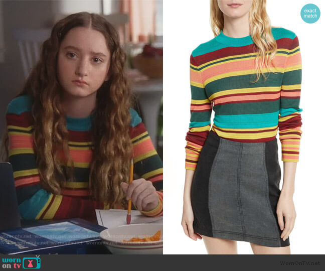 Show Off Your Stripes Sweater by Free People worn by Mae (Olivia Keville) on Splitting Up Together