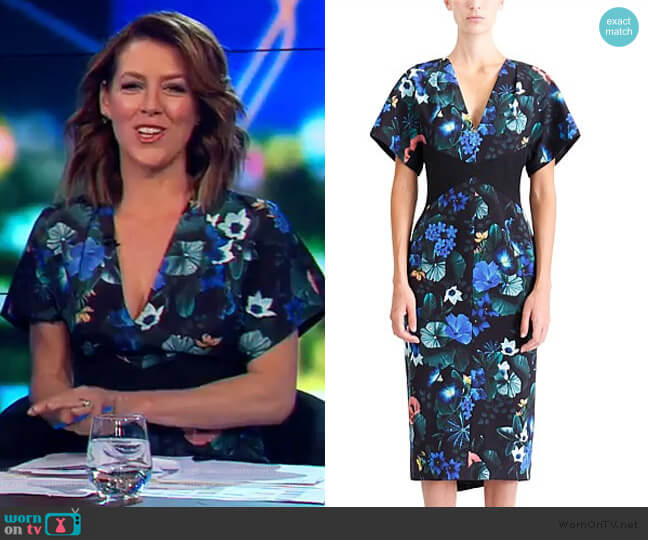 Harmony Fitted Dress by Ginger and Smart worn by Gorgi Coghlan  on The Project