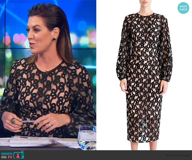Link Dress with Sleeve by Ginger & Smart worn by Gorgi Coghlan  on The Project