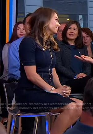 Ginger's denim zip front dress on Good Morning America