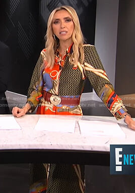 Giuliana's belt print shirtdress on E! News