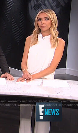 Giuliana's white draped jumpsuit on E! News