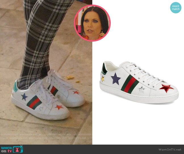 New Ace Star Sneaker by Gucci worn by LeeAnne Locken  on The Real Housewives of Dallas