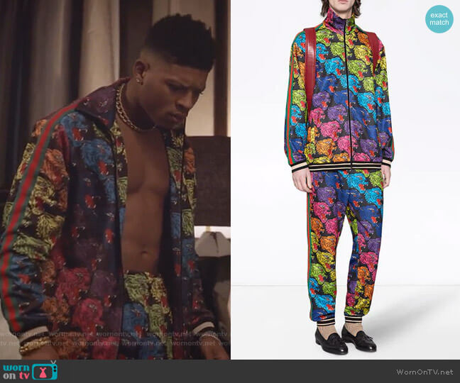 Panther Face Technical Jersey Jacket and Jogging Pants by Gucci worn by Hakeem Lyon (Bryshere Y. Gray) on Empire