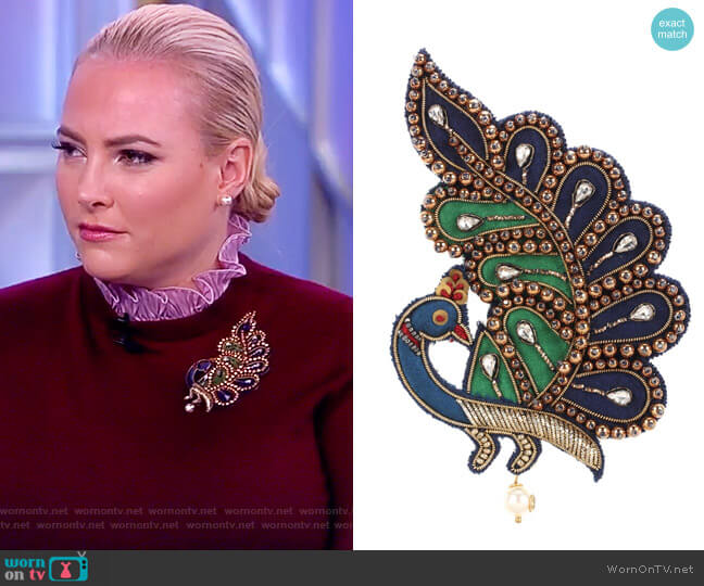 Jewell Brooch by Gucci worn by Meghan McCain  on The View