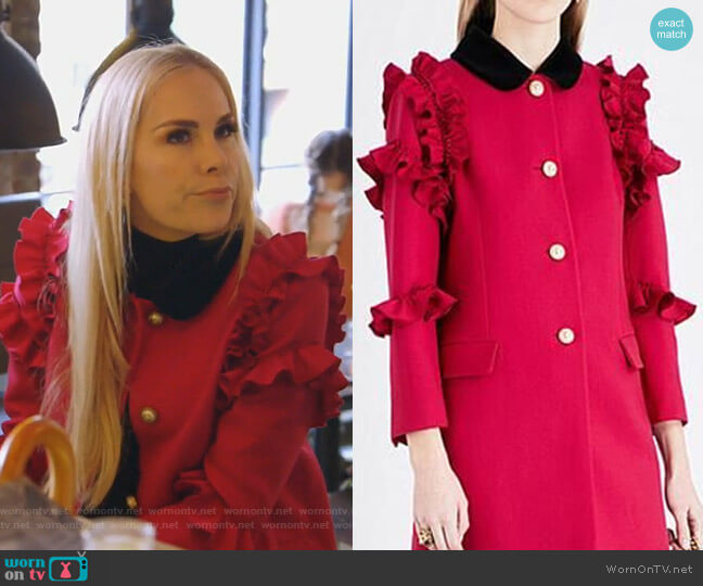Wool Flounce Coat by Gucci worn by Kameron Westcott on The Real Housewives of Dallas