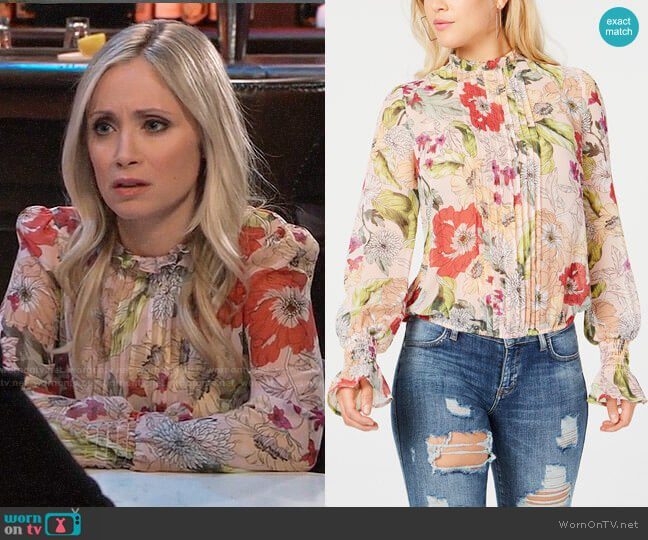 Guess Tyler Top worn by Lulu Spencer Falconeri (Emme Rylan) on General Hospital