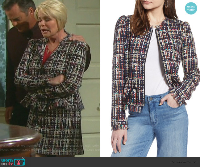 Tweed Jacket by Halogen worn by Bonnie Lockhart (Judi Evans) on Days of our Lives