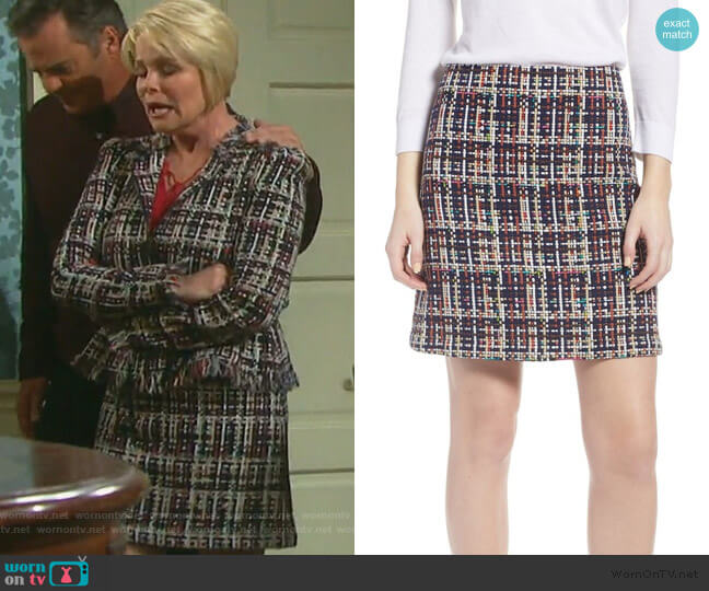 Tweed Mini Skirt by Halogen worn by Bonnie Lockhart (Judi Evans) on Days of our Lives