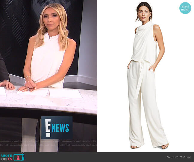 Wrap Detail Jumpsuit by Halston Heritage worn by Giuliana Rancic  on E! News