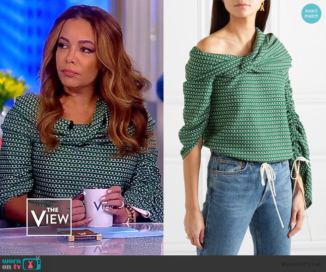 Sunshine Top by Hellassy worn by Sunny Hostin  on The View