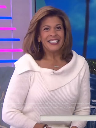 Hoda's white striped sweater on Today