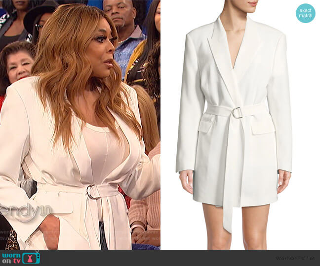 Sensitive Wrap Dress by IRO worn by Wendy Williams  on The Wendy Williams Show