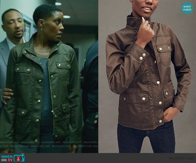 Downtown Field Jacket by J. Crew worn by Lynn Stewart (Christine Adams) on Black Lightning