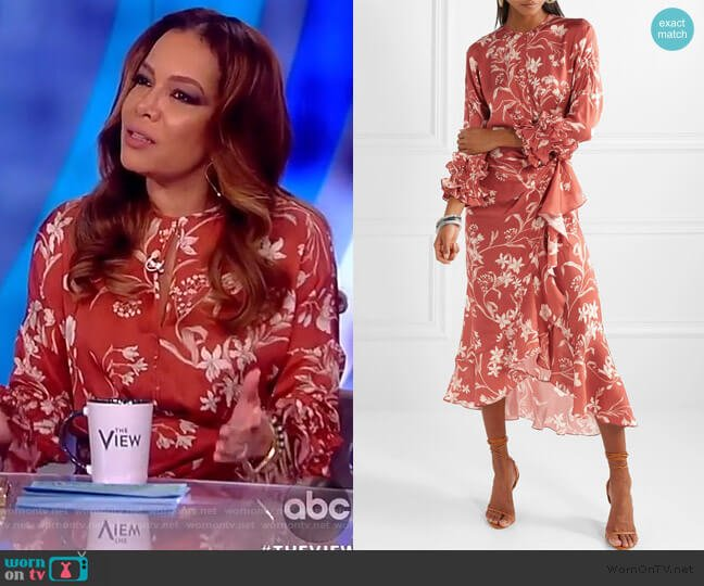 Botanical Gardens Midi Dress by Johanna Ortiz worn by Sunny Hostin  on The View
