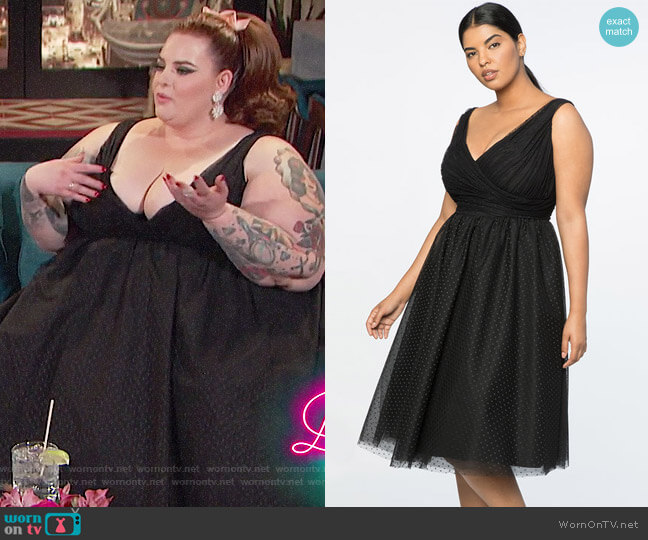 Jason Wu X ELOQUII Point D'esprit Dress worn by Tess Holliday on Busy Tonight