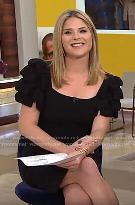 Jenna's black ruffled sleeve dress on Today
