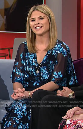 Jenna's blue floral ruffled dress on Today